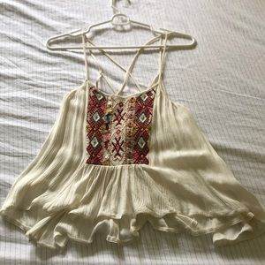 Flowy patterned crop top from UO never worn